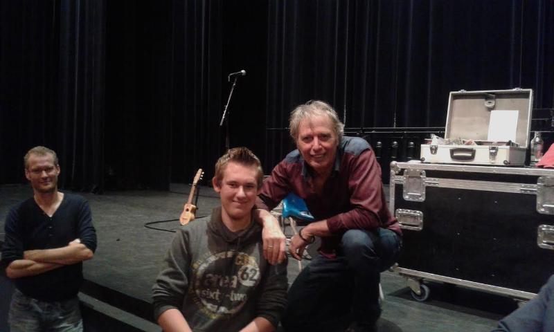 Na afloop van een zeer prettige avond in Houten, samen met Jeroen Verhoef. Houten, 9 0ktober 2014